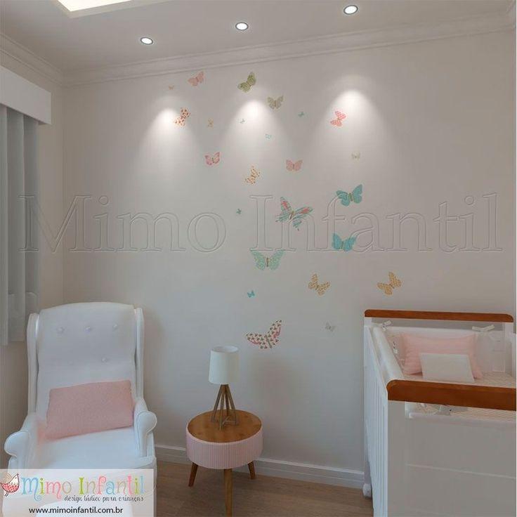 Aparador Cocina Blanco ~ Mas de 1 000 imagens sobre Quarto borboleta no Pinterest Móbile de borboletas, Beb u00ea e Feltro