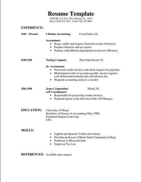 36 best Simple Resume Template images on Pinterest Free resume - reference template for resume