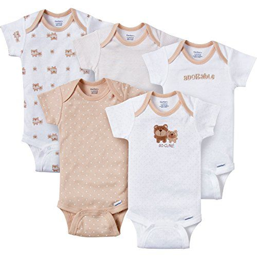 Gerber Baby-Boys Variety Onesies Brand Bodysuits, Adorable Bears, 3-6 Months (Pack of 5). For product info go to: https://all4babies.co.business/gerber-baby-boys-variety-onesies-brand-bodysuits-adorable-bears-3-6-months-pack-of-5/