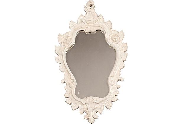 White Venetian-Style Mirror