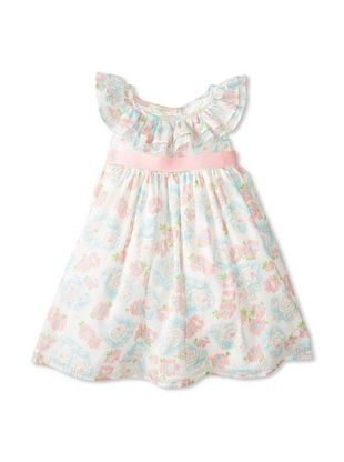 44% OFF Laura Ashley Girl's Ruffle Neck Dress (Floral)