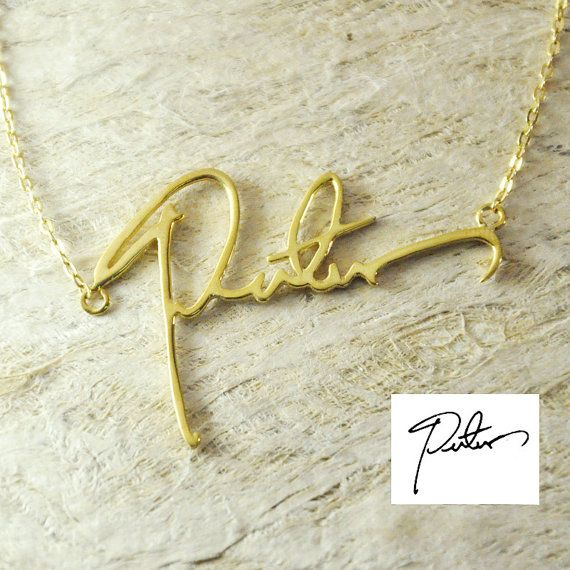 Christmas Gift Handwriting necklace by Handmadenamenecklace