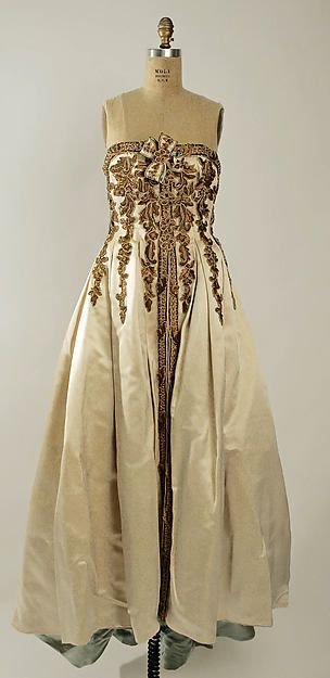 Evening Dress - Design House: House of Chanel (French, founded 1913) Designer: Karl Lagerfeld (French, born Hamburg, 1938) Date: ca. 1990 Culture: French Medium: silk, metal