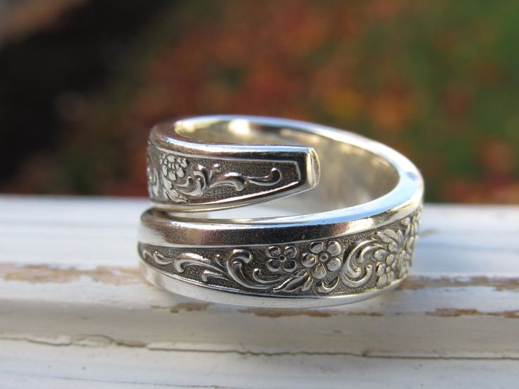 Spoon ring - size 7 - silver ring - handmade - hippie jewelry - silverware ring - cutlery re-purposed - spoon jewelry - vintage silverware