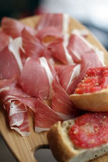 jamon and pan con tomate  frenchie wine bar by daveleb, via Flickr