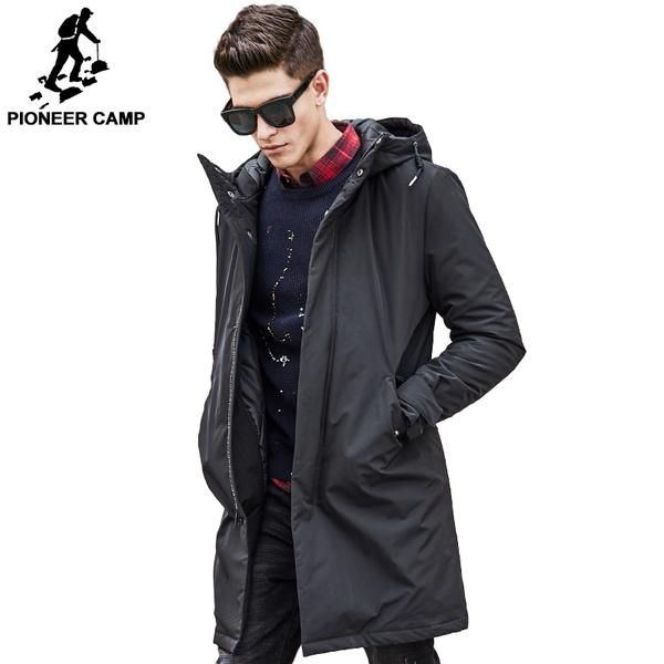 Pioneer Camp long winter Jacket men brand clothing male cotton autumn coat New top Quality black down Parkas men 611801 #jackets #fashion