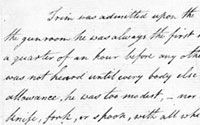 Flinders's tribute to Trim the cat, FLI/11 (excerpt) - from the Flinders papers - National Maritime Museum, UK.