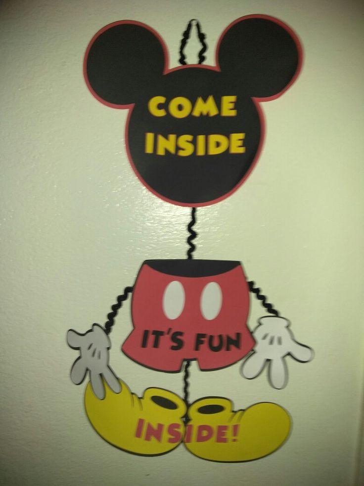 Mickey Door Sign