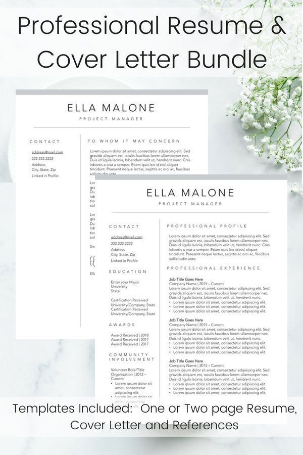 simple references on resume