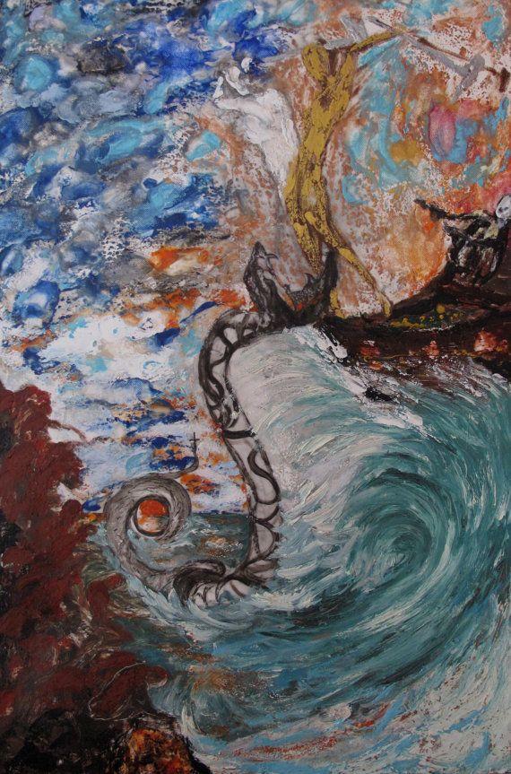 Original oil encaustic painting by ArtShines on Etsy