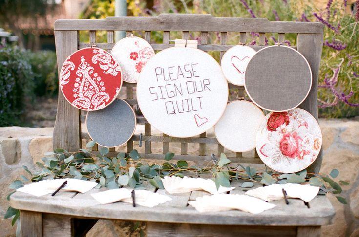 Wedding Quilt Guest Book | photography by http://dianamarieblog.com/