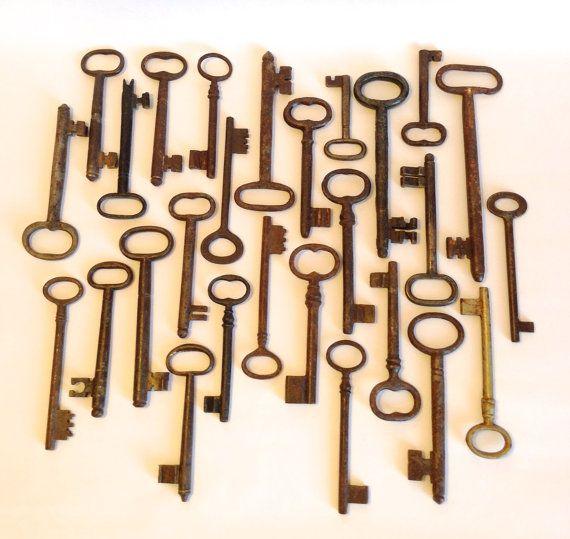 French antique key lot under £3 a key!