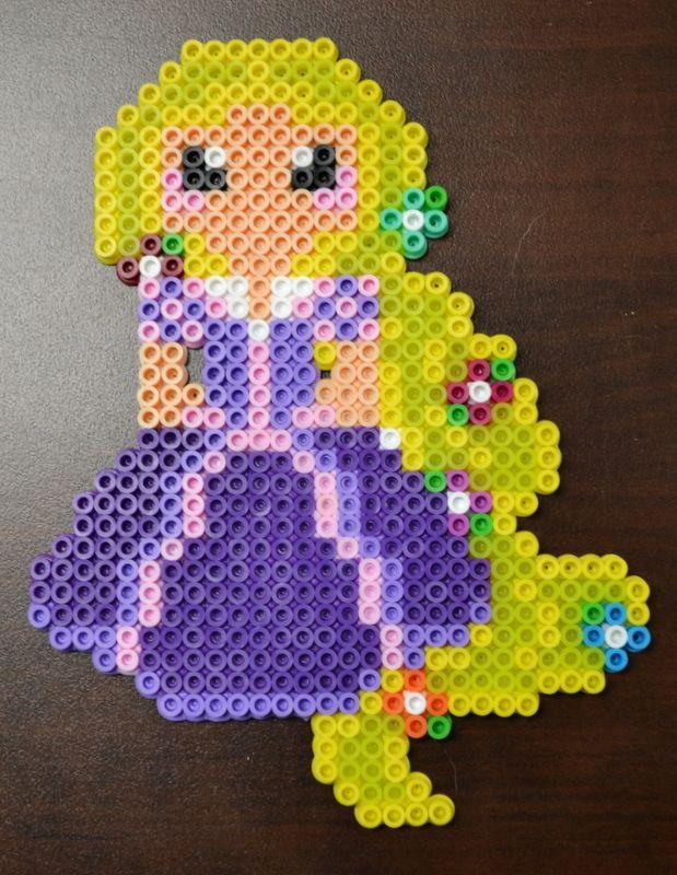 Disney Princess Rapunzel Perler Bead