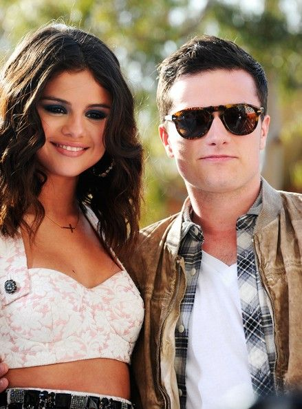 Josh Hutcherson and Selena Gomez
