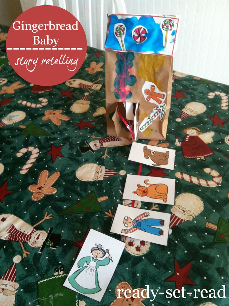 Free printable activities to go with Gingerbread Baby by Jan Brett