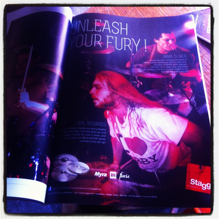 Found this ad for Stagg cymbals in Drummer Magazine!