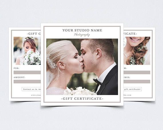 Photography Gift Certificate Template for Photoshop 003
