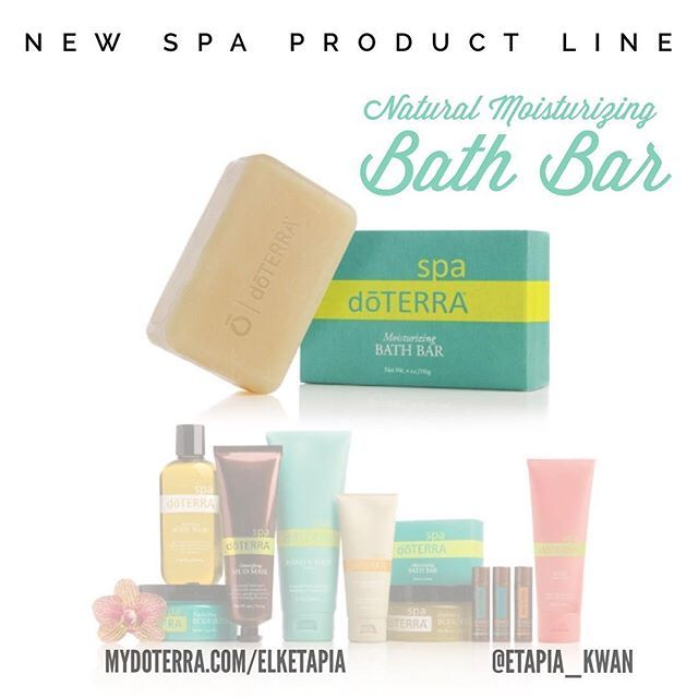 doTERRA expanded their SPA Product Line and added some great products!  The new doTERRA® Spa Natural Moisturizing Bath Bar is different from any soap you've ever used before. It glides gently over the skin, lathers nicely, and smells great!  Some of the key ingredients in the Moisturizing Bath Bar are: - Bergamot Essential Oil - Grapefruit Essential Oil - Jojoba Seed Oil - Vegetable-derived glycerin - Aloe leaf juice  The Moisturizing Bath Bar will be available to purchase on Monday…