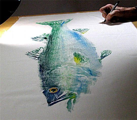 HOME GYOTAKU ARTIST - GYOTAKU Fish Rubbings - Art by Barry Singer