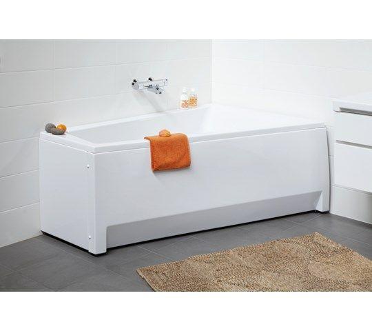 Asymmetrisk badekar, 1600x1000x625, høyre.