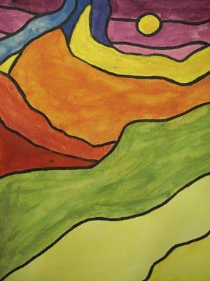 Tempera cake landscapes (value)