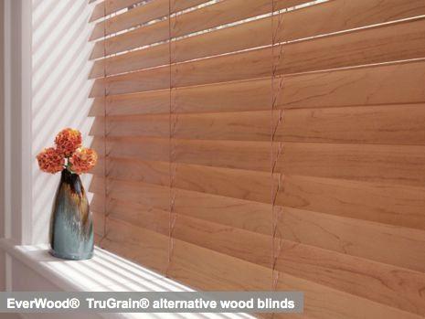 EverWood®  TruGrain® alternative wood blinds,http://www.beyond-shades.com/products/HunterDouglasWindowFashions/HunterDouglasBlinds
