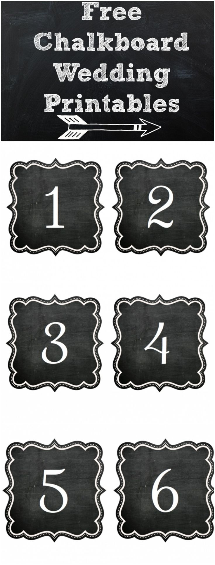 Free Chalkboard Wedding Printables! From rusticweddingchic.com & @Kristin | Paige Simple Studio