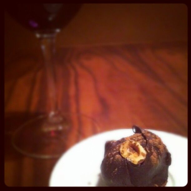 Hand made Chocolate-Hazelnut truffles with Frangelico ganache filling ...