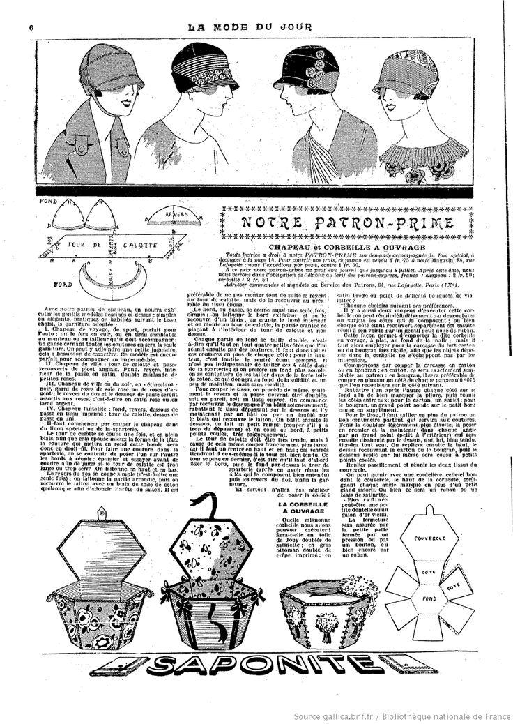 """CHAPEAU - SAC in """"La Mode du jour"""" [1925/07/02"""