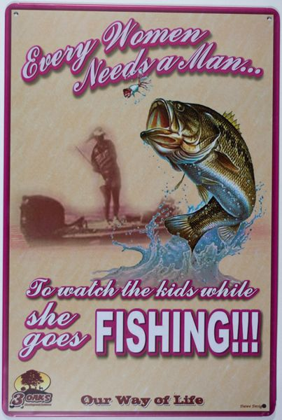 Vintage Metal Sign - She goes Fishing | Nautination gifts for sailors, boaters…