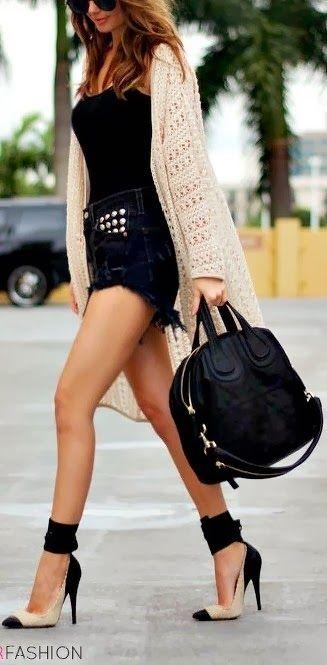 Długi kardigan - idealne wykończenie stylizacji | #fobya #fobya_com #sweater