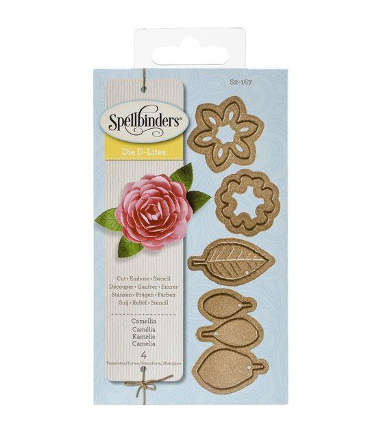 Spellbinders Shapeabilities D-Lites Camellia Dies