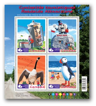 2010 stamp. Roadside Attractions. (I want the Wawa Goose).