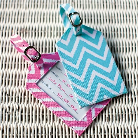 These are really cute and fashionable Zig Zag Luggage Tags from PBteen that will be perfect for when traveling to San Diego for Comicon