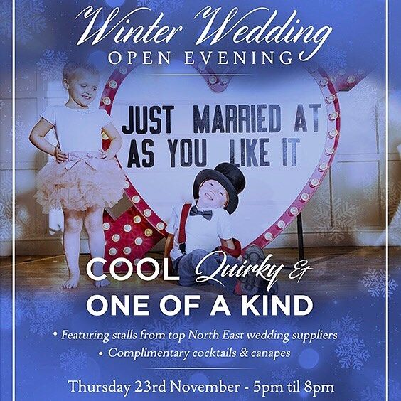 T O N I G H T 5-8pm O P E NE V E N I N G ! Call 0191 281 2277 to book an appointment with one of our awesome wedding coordinators - get those perfect wedding plans started #weddingsatasyoulikeit #citycentrevenue #TWIAbestcityvenue