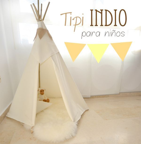 DIY: How to make a tipi for children's rooms- Petit & Small