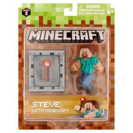 Jazwares Mojang Minecraft Steve with Minecart 6+, Blue