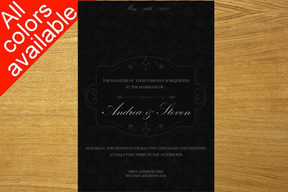 Wedding invitation design download by WeddingTemplatesHub on Etsy