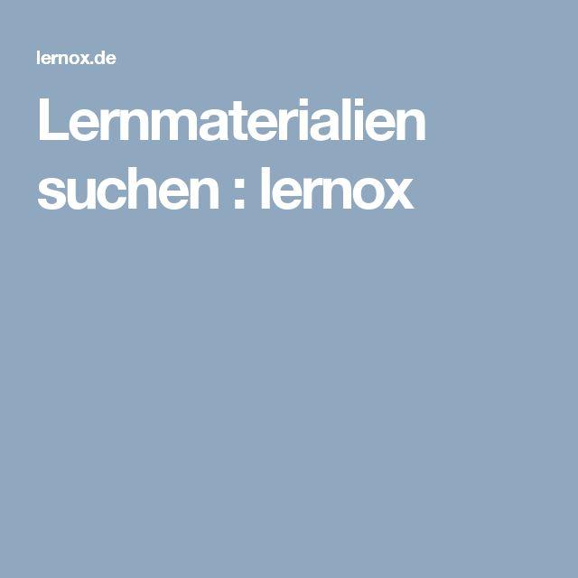 Lernmaterialien suchen : lernox
