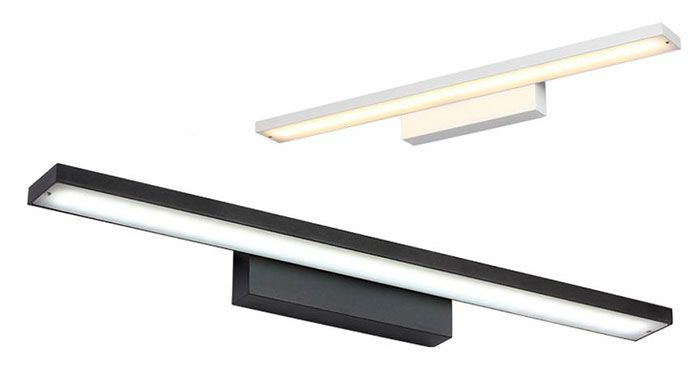 Goedkope Nieuwigheid verlichting Zwarte of Witte Behuizing LED front spiegel licht badkamermeubel kaptafel keuken lampen L40/60/80/100 cm luz, koop Kwaliteit wandlampen rechtstreeks van Leveranciers van China: materialen: Metalen, SMD LEDingangsspanning: AC 110-220 V 50/60HzLichtbron: LEDLED Omvatten of Niet: OmvattenStroomverbr
