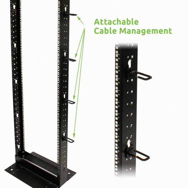 2-Post-7-ft-Server-Rack-Black-Open-Frame-IT-Network-Relay-45U-900lb-capacity