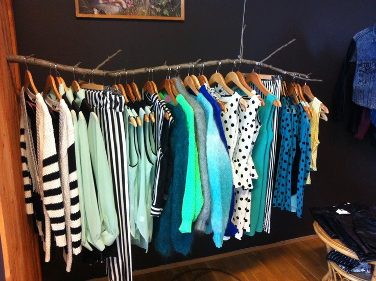 DIY clothing hanger racks!
