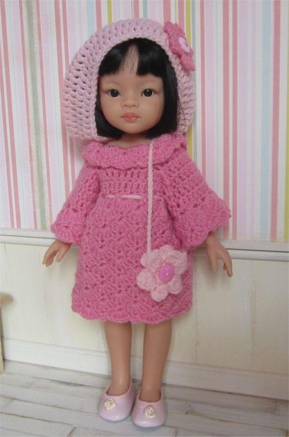 108- FICHE PATRON CROCHET Ensemble Daphnée pour poupée Paola Reina ou Chérie de Corolle : Jeux, jouets par atelier-crochet