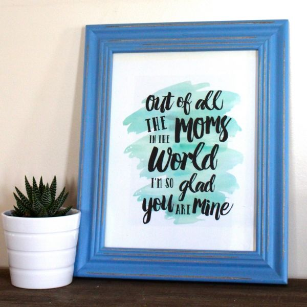 Free Mother's Day Printable and afforfable, easy and even last minute Mother's Day Gift— Weekend Craft