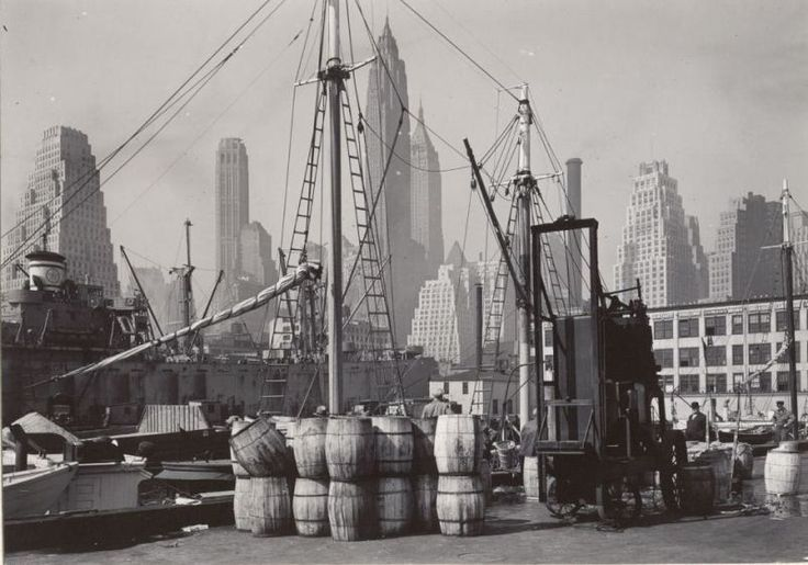 Nyc fulton fish market wharf 1946 by todd webb places for Fulton fish market online