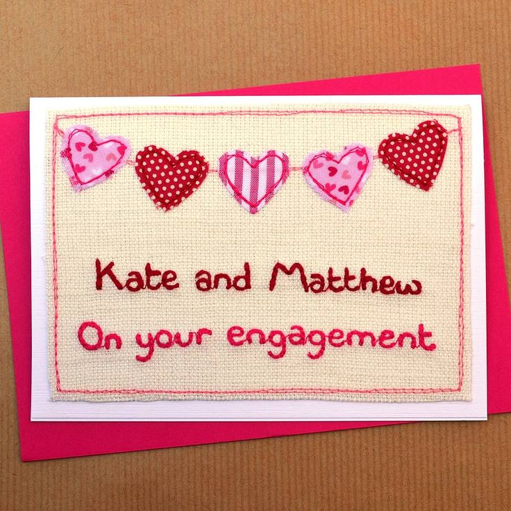 Bunting Personalised Engagement Card