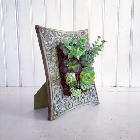 Vertical Succulent Planter - 20 Creative Handmade Planter Designs