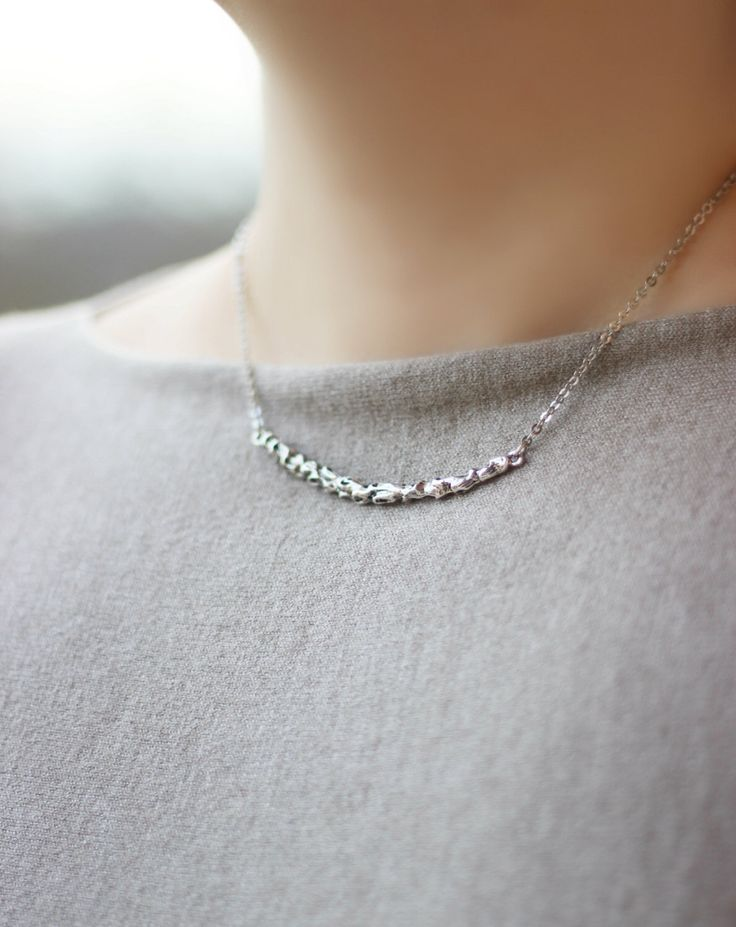 Pendant Necklace, Silver Tone Necklace, Short Necklace,Minimalistic Necklace, Metal Necklace,Bar Necklace,Everyday Necklace,Modern Jewelry by NaTavelli on Etsy https://www.etsy.com/il-en/listing/219564532/pendant-necklace-silver-tone-necklace
