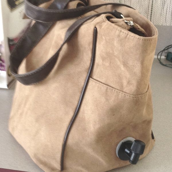 @Nicole Joyner I found a wine purse on Pinterest for $70. Made this for $3! spamzeke