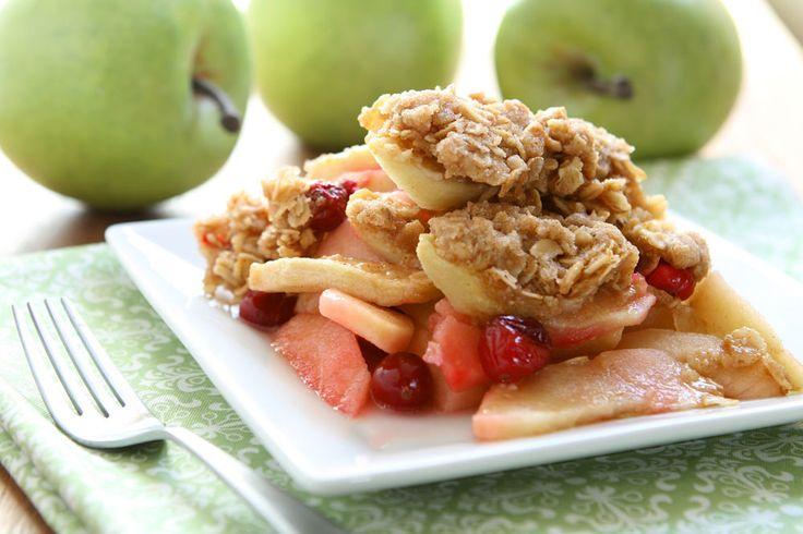 Holiday Apple Berry Oatmeal Coconut Crisp Crunch Health Delight